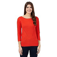 The Collection - Orange ribbed jumper