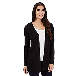 The Collection Petite - Black textured stripe cardigan