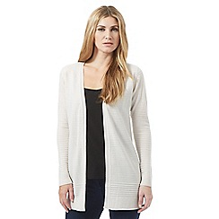 The Collection - Cream textured stripe cardigan