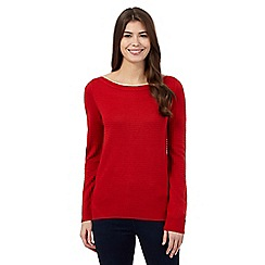The Collection - Red ottoman stitch jumper