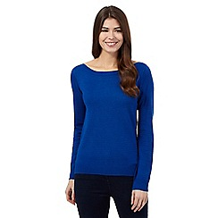 The Collection - Blue ottoman stitch jumper