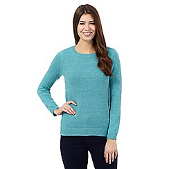 The Collection - Turquoise textured stitch jumper