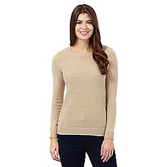 The Collection - Natural textured stitch jumper