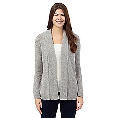 The Collection - Grey lambswool blend shawl collar cardigan
