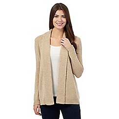 The Collection - Natural lambswool blend shawl collar cardigan