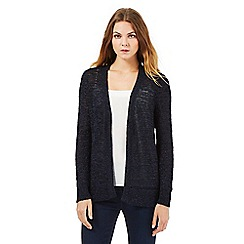 The Collection - Navy textured cardigan