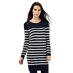 The Collection Petite - Navy striped tunic