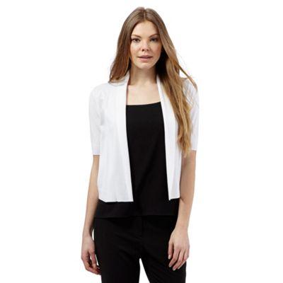 The Collection White shawl collar shrug