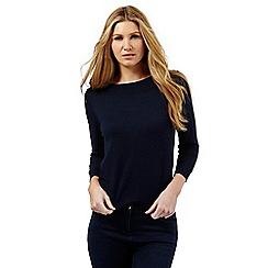 The Collection - Navy Bardot jumper