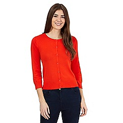 The Collection Petite - Orange crew neck cardigan