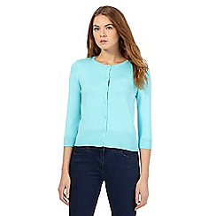 The Collection Petite - Light turquoise crew neck cardigan