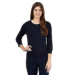 The Collection Petite - Navy crew neck cardigan