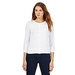The Collection Petite - White crew neck cardigan