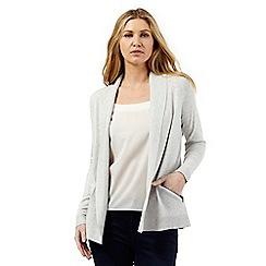 The Collection - Grey shawl collar zip cardigan