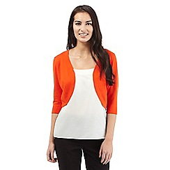 The Collection Petite - Orange ribbed shrug