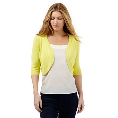 The Collection Petite Lime ribbed shrug