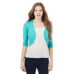The Collection - Aqua open shrug