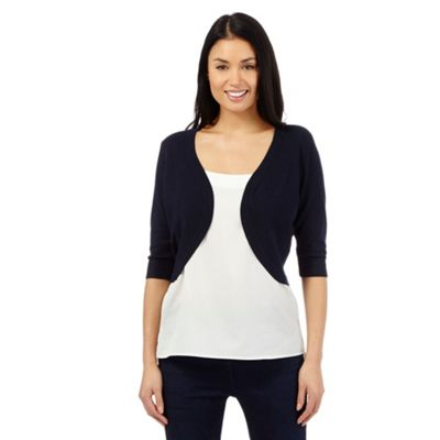 The Collection Navy ribbed shrug