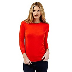 The Collection - Orange button neck jumper