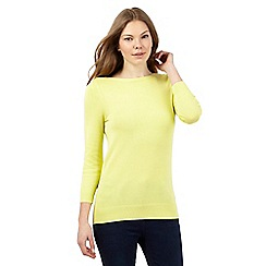 The Collection - Yellow button neck jumper