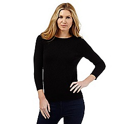 The Collection - Black button neck jumper