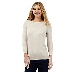 The Collection - Cream button neck jumper