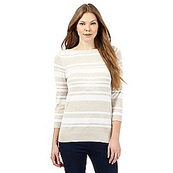 The Collection - Beige striped print jumper