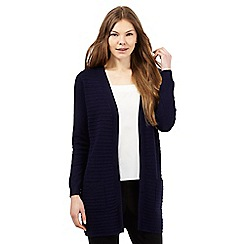 The Collection - Navy ribbed longline cardigan