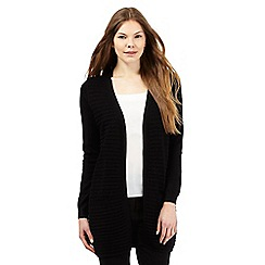 The Collection - Black ribbed longline cardigan