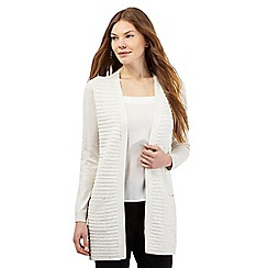 The Collection - Cream ribbed longline cardigan
