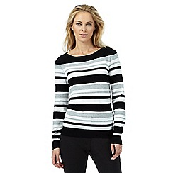 The Collection - Black and white striped print jumper