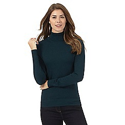 The Collection - Dark turquoise roll neck jumper
