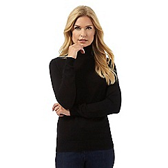 The Collection - Black roll neck jumper