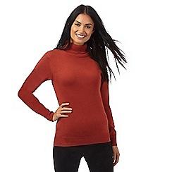 The Collection - Dark orange roll neck jumper