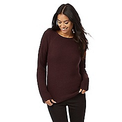 The Collection - Dark purple knitted jumper