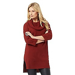 The Collection - Red cowl neck tunic