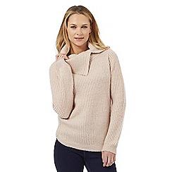 The Collection - Light pink split neck jumper