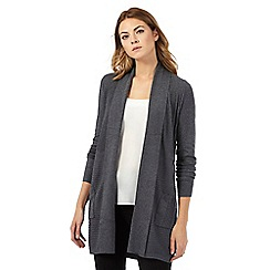 The Collection - Grey ribbed longline cardigan