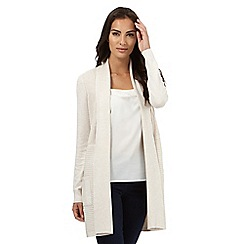 The Collection - Beige ribbed longline cardigan