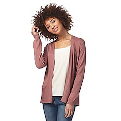 The Collection - Light pink ribbed zip detail cardigan