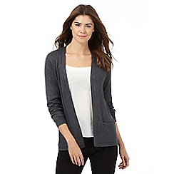 The Collection - Grey ribbed cardigan