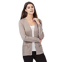 The Collection - Taupe ribbed cardigan