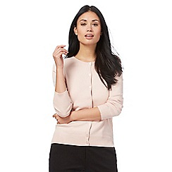 The Collection - Pink crew neck cardigan