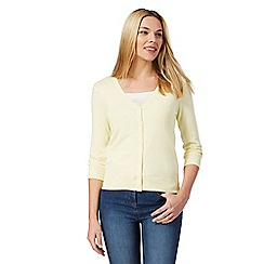 The Collection - Yellow V neck cardigan