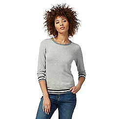 The Collection - Grey zip shoulder jumper