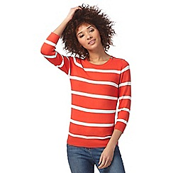 The Collection - Red striped print jumper
