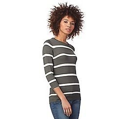 The Collection - Khaki striped print jumper