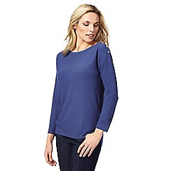 The Collection - Dark blue ribbed jumper