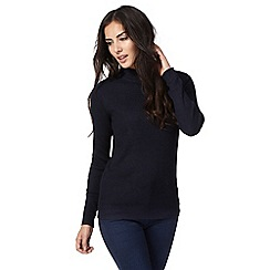 The Collection - Navy button shoulder jumper