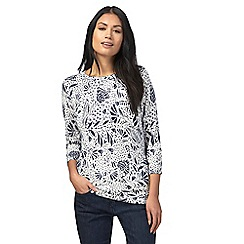 The Collection - Navy floral print jumper